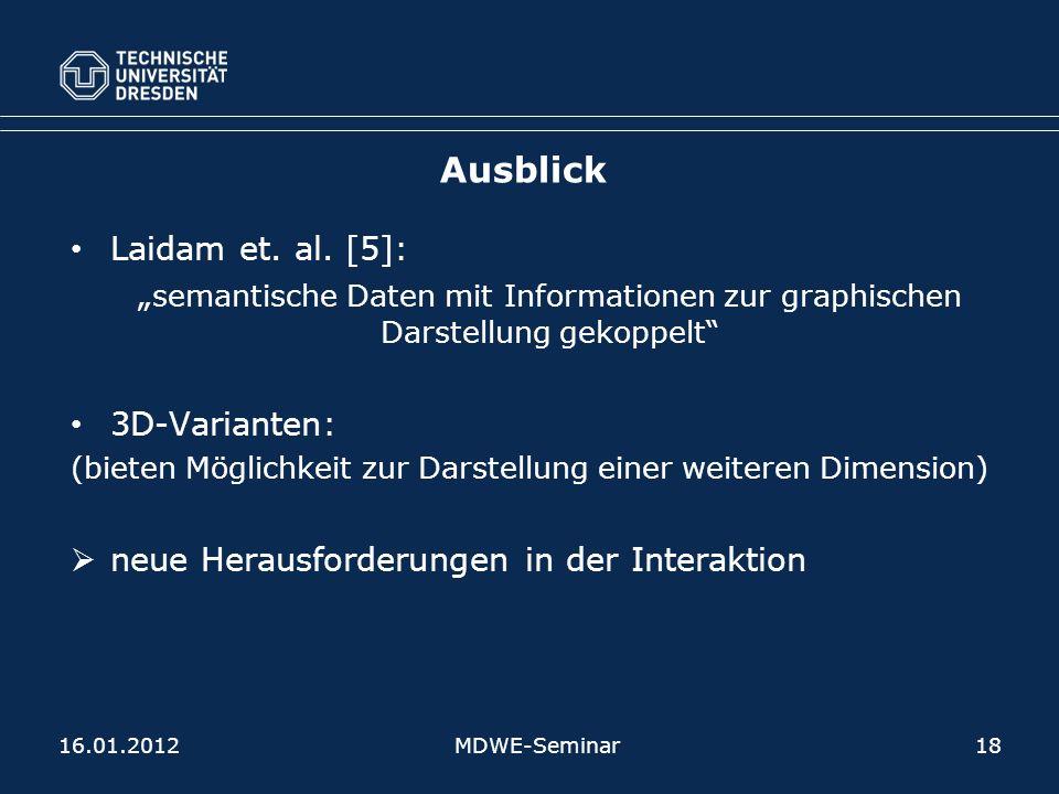 Ausblick Laidam et. al. [5]: